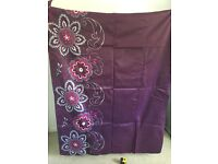 2 pairs of Next purple curtains with sequin detail