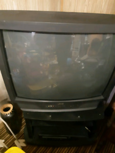 """27"""" TV WITH REMOTE AND STAND"""