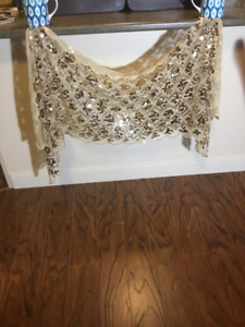 GOLD SEQUINED SHAWL