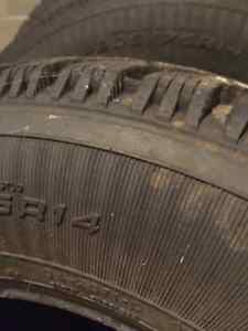 Two Goodyear Nordic 205/75R14 Winter Tires London Ontario image 6