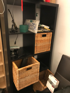 bookshelf from IKEA plus 4 baskets