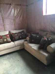 Love seat, sofa and Chaisse
