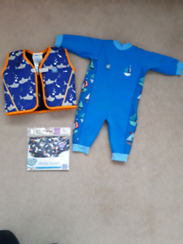 Baby Buoyancy Jacket, Warm Swim Suit & Swim Nappy