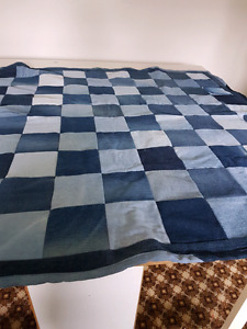 Homemade Jean quilt