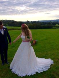 Mori Lee Gold Lace Wedding Dress size 14 £500 ono