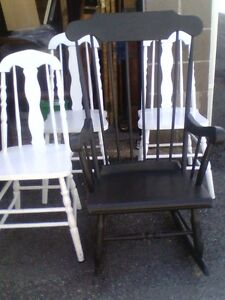 Antique Hardwood Chairs, set of 3 for $25