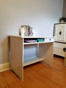 Small white desk for the bedroom