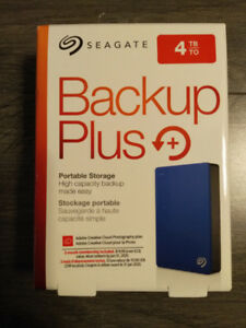 BRAND NEW Seagate Backup Plus 4TB Portable External HDD