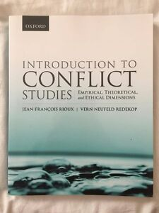 Introduction to Conflict Studies by Rioux and Redekop