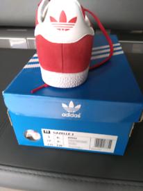 Adidas originals red gazelle size 4.5 brand new in box and unworn