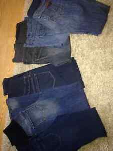 Maternity jeans, sizes XS - Med