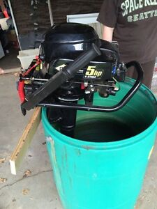 5hp 4 cycle Briggs & Stratton Outboard Motor