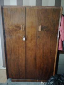 Antique wood wardrobe