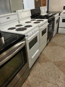 WE HAVE PRETTY STOVES, BLACK, WHITE AND STAINLESS  30 24''SIZES