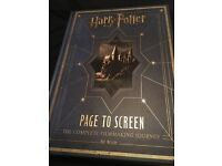 Harry Potter hard back page to screen book