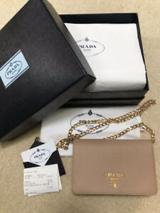 EUC prada wallet on chain woc