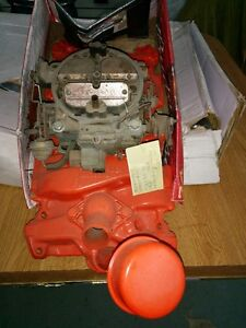 Chev 4bbl Intake and carb