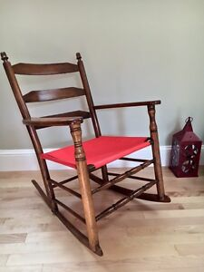 Vintage Wood Antique Rocking Chair