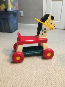 Vintage1976 Fisher Price Ride On Neighing Toy Horse