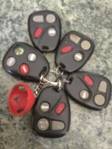 General Motors car fob keys