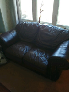 Leather loveseat!