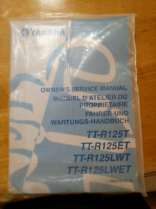 Ttr 125 owners service manual