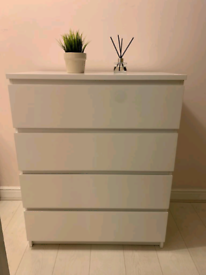 Ikea Malm Chest of 4 Drawers