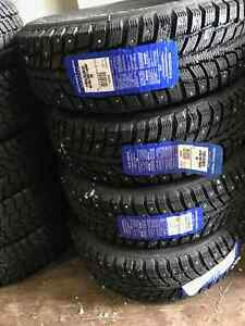 (4) P195/65R15 Techno Ultra Traction (Studded)