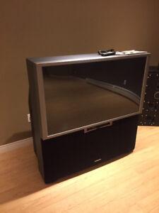 For free Hitachi floor model TV
