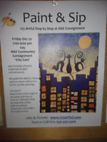 Paint & Sip Night with Kris Fuller at A&E Community Market