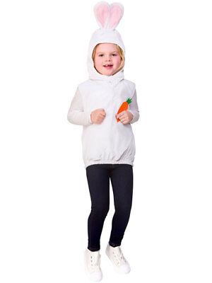 Child Easter Bunny Costume Tabard Fancy Dress White Rabbit Kids Book Day Week