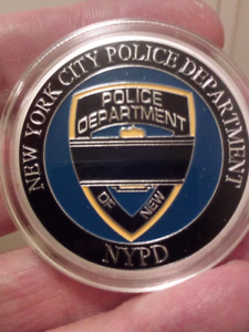 Large 40mm New York City Police Department Blue Lives Coin