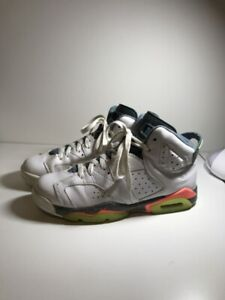 "Jordan Retro 6, ""White/Ghost Green"" colorway, Size 7 US mens"