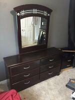6 drawer bureau dresser with mirror