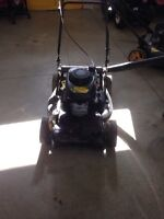 Fully serviced lawn mowers.