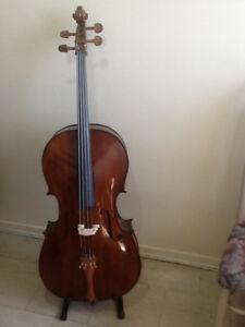 BRAND NEW Cello 4/4 Solid Spruce / Maple Hard / Soft case, Bow