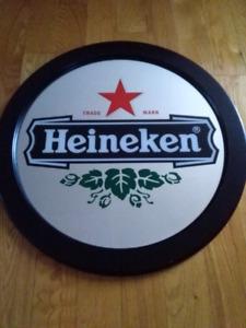 Heineken beer mirror miroir