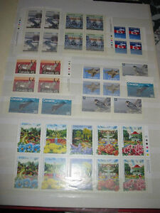 31 PAGE BOOK FULL OF MINT UNUSED CANADIAN POSTAGE STAMPS