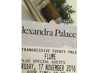 Flume tickets Alexandra Palace 17 November