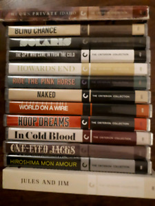 Movies, Criterion Collection, Blu Ray, DVDs