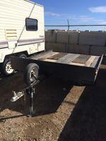 2 place tilting snowmobile/quad/side x side trailer