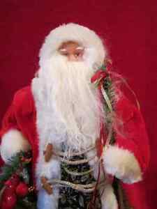 Decorative Vintage Christmas Holiday Home Decor Santa Clause Sta Regina Regina Area image 2