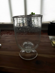 Bubble glass container.