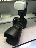 Nikon D90 in perfect condition with 2 lenses + flash