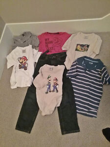 Boy's Clothing: New Jeans, 4 New Shirts, 2 used shirts Size 8