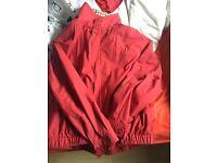 Aquascutum red bomber jacket