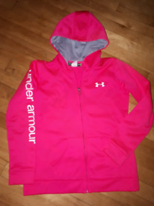 Under Armour pink youth hoodie