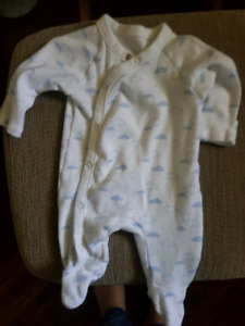 Newborn boy clothes and diapers