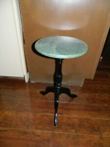 A NICE LITTLE MARBLE TOP PLANT TABLE