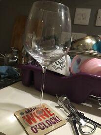 LSA wine glass + wine opener